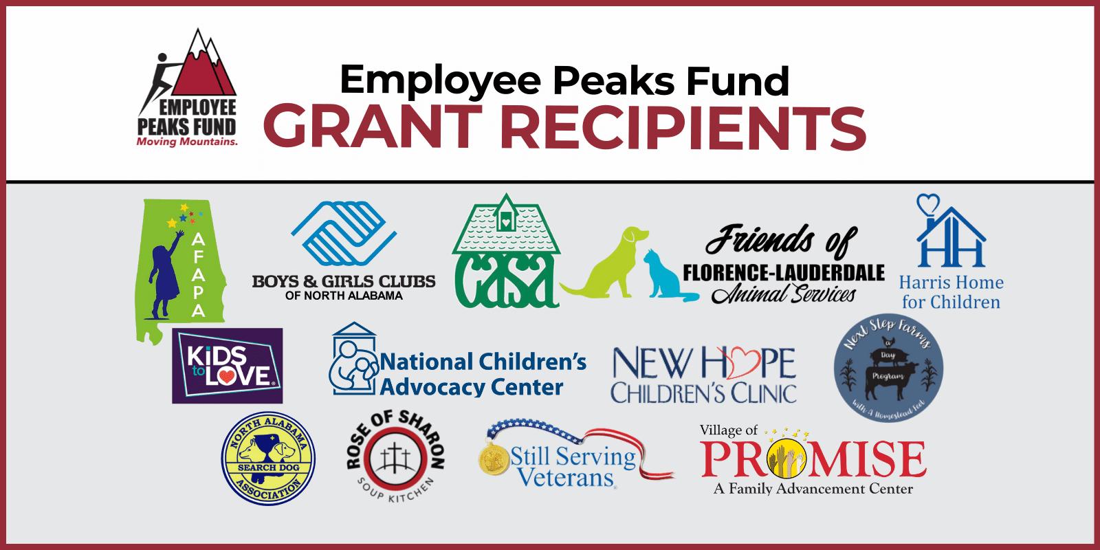 Employee Peaks Fund Grant Recipients 2021